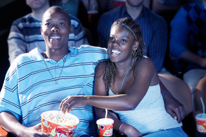 a dating couple in the cinema