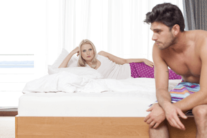 a man lying to his girlfriend